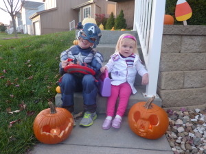 Captain America and Doc McStuffins on Halloween