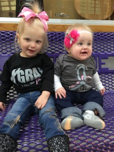 Emma and Jensen enjoying the EmmaStrong Night at Bellevue East vs. Papillion LaVista