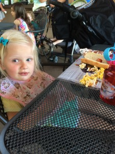 Emma and some of her favorites - Popcorn, Hotdog, and the Zoo