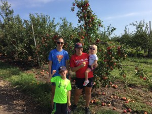 The kids loved picking apples at Kimmel Orchard.