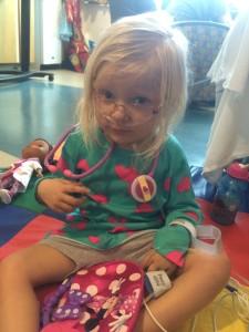 She had to wear her stethoscope like the nurses do.