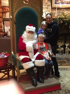 Aiden loved Santa. Emma at least didn't cry this year!