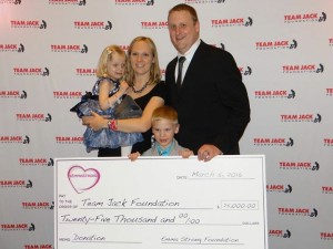EmmaStrong had the privilege of presenting a donation to Team Jack for their work towards bringing a Pediatric Neuro Oncologist to Omaha, Nebraska.