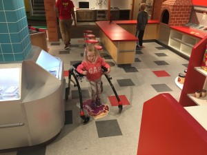 "Emma also got to spend some time at the Omaha Childrens Museum because of ""Clean Night""  We had a blast."